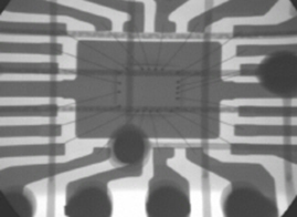X-ray image of integrated circuit chip